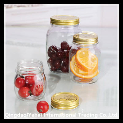 250ml Glass Jam Bottle with Metal Lid