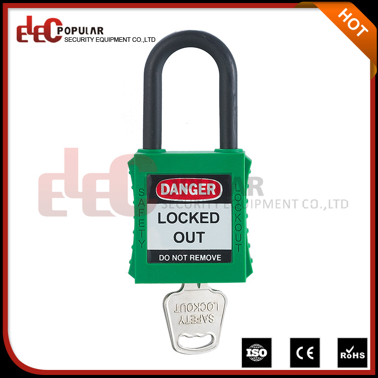 Nylon Shackle Keyed Alike One and Half Inch Safety Padlock
