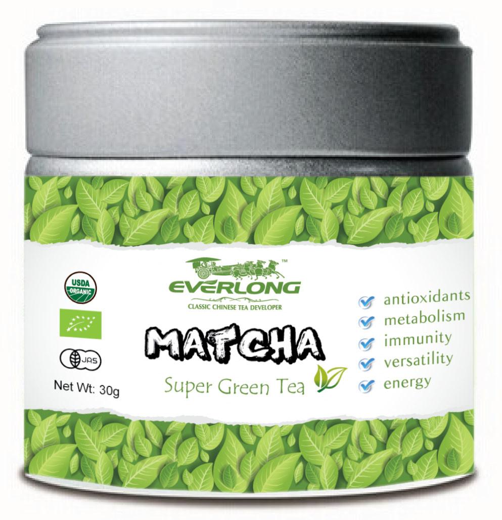 Matcha Super Green Tea Powder Japanese Style 100% Organic EU Nop Jas Certified Small Order Avaliable