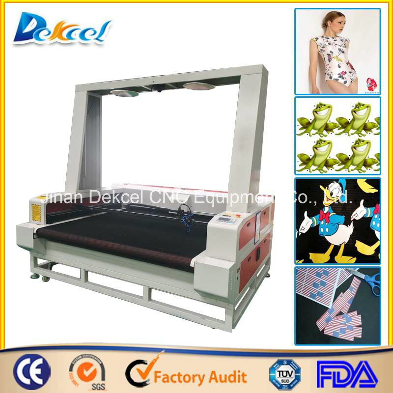 CCD Visual Camera Laser Cutting Machine Large Size Fabric/Leather/Logo/Label/Cloth Cutter