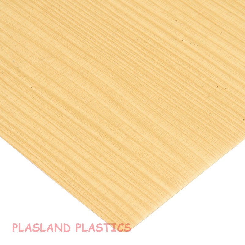 Vacuum Forming PVC Wood Sheet / PVC Wooden Grain Sheet