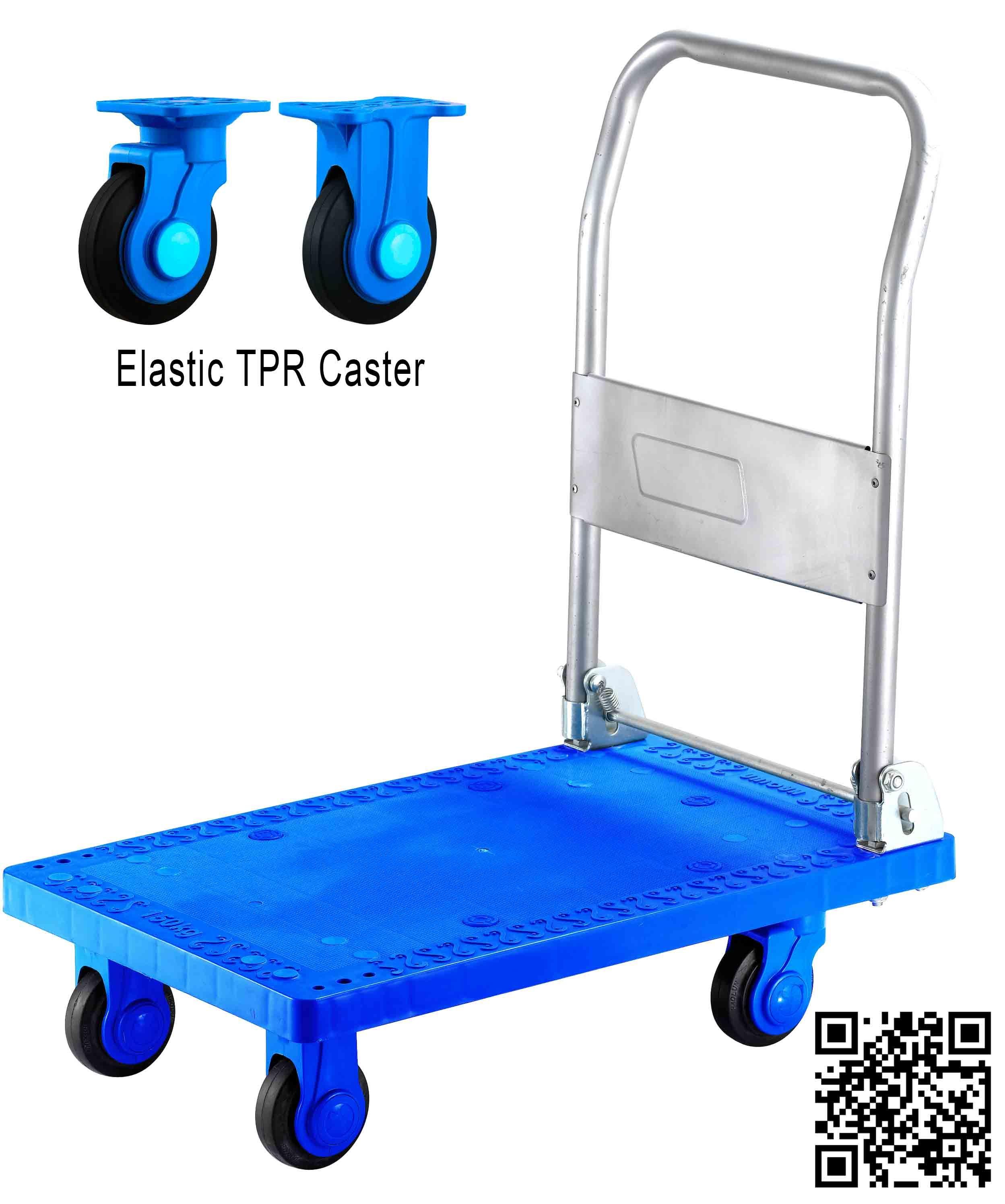300kg Blue Color Plastic Platform Hand Cart