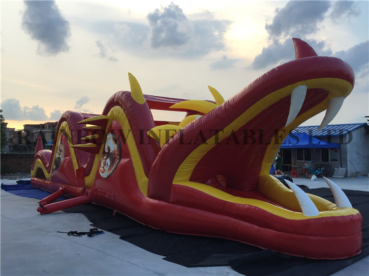 Inflatable Dragon Obstacle Course for Kids
