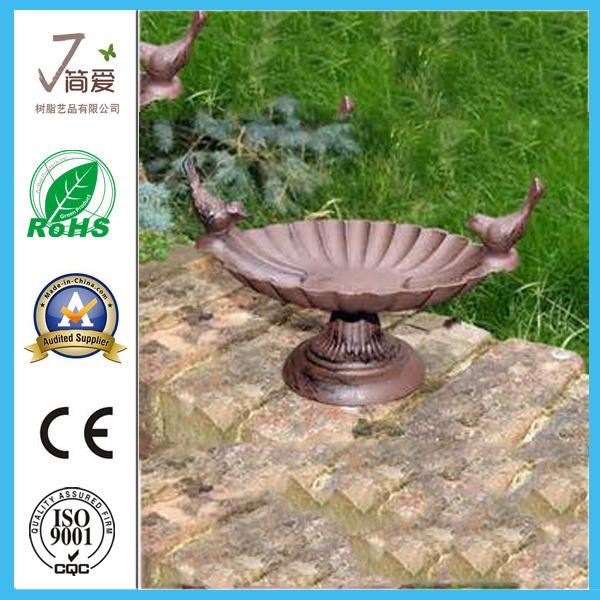 Polyresin Bird Bath/Bird Feeder for Garden Decoration-Jn15047