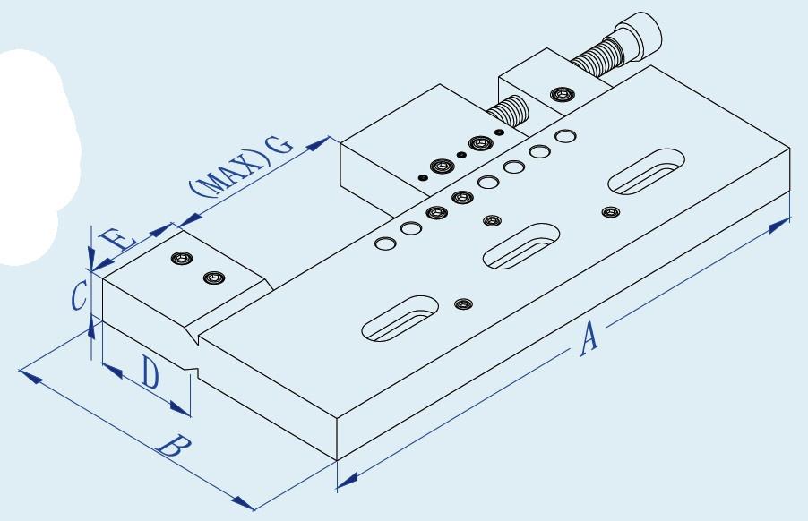 EDM Mannual Precision Milling Mechnical Vise