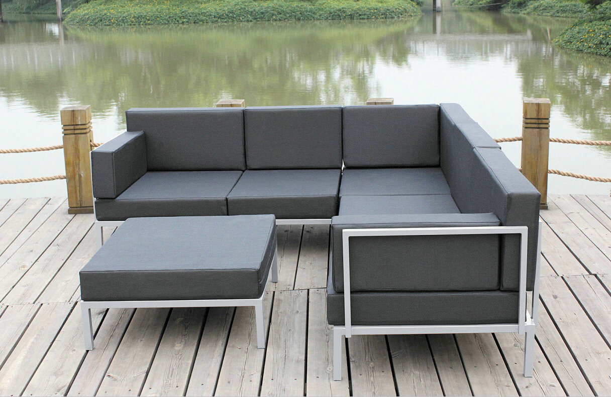 China Casual Selectional Metal Sofa Set Aluminum Outdoor Garden Furniture s &