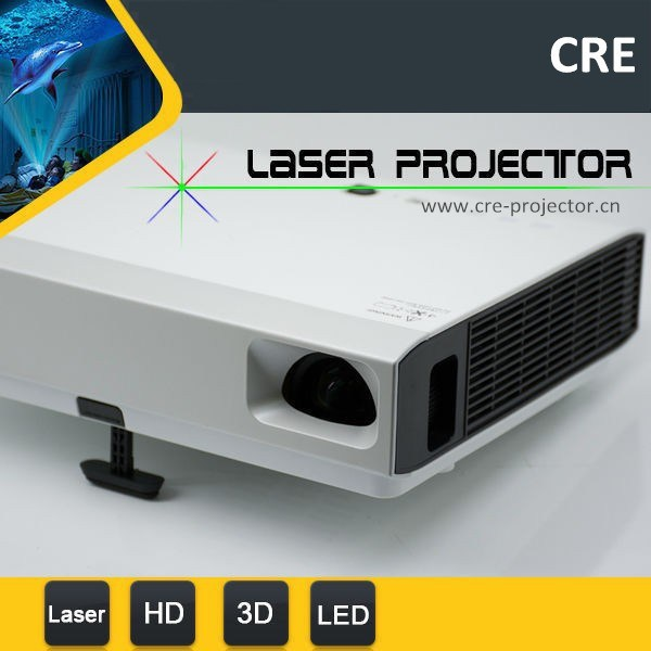 Latest Product! ! ! Full HD High Brightness School Business Multimedia Mini 3D Laser Projector