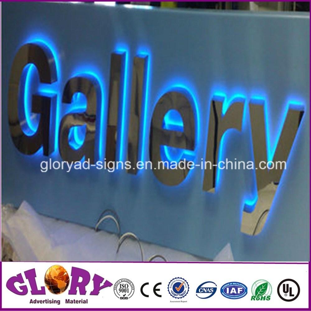 Stainless Steel LED Back-Lit LED Letter Sign for LED Lighting