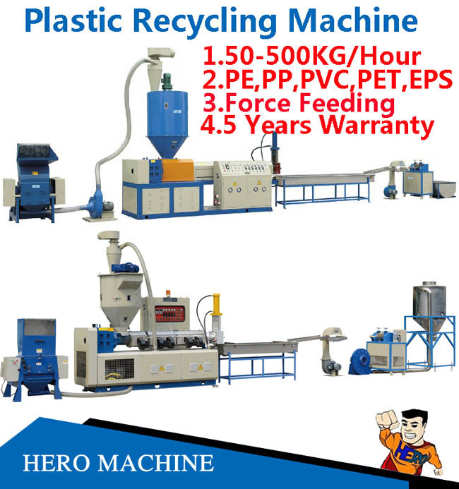 PVC HDPE LDPE PE Garbage EPS Pet PP Nylon Plastic Bags Film PS Bottle Washing Waste Plastic Recycling Machine Price