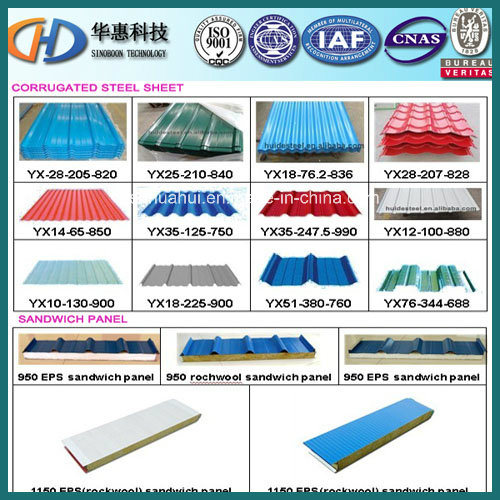 colorful Corrugated Roofing Steel Sheet Used on Building