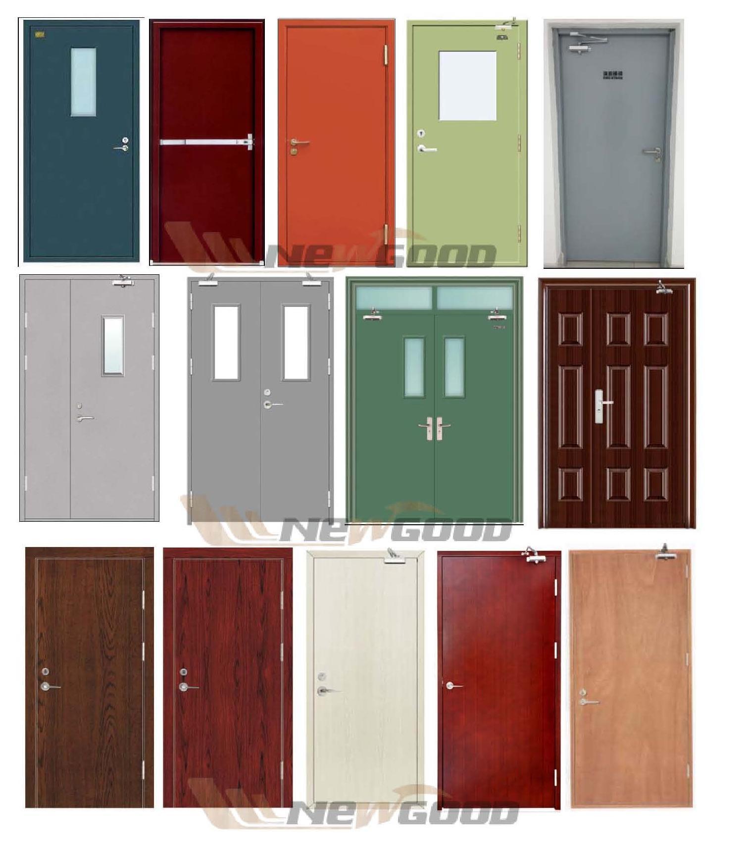BS476: 22 Fire Rated Wood Door, Fire Rated Wooden Door, Fire Rated Steel Door Manufacturer (Competitive Prices $86/SET)