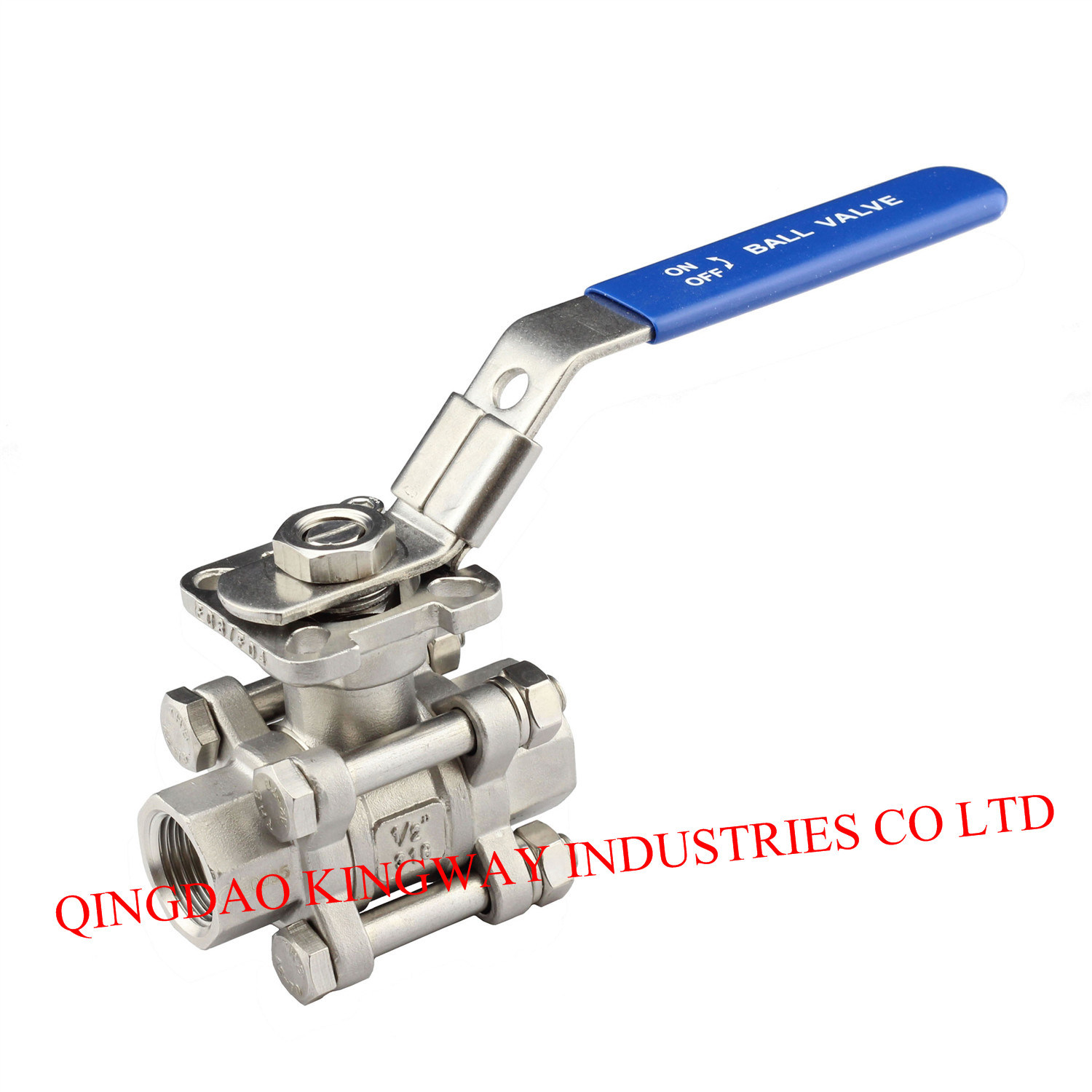 3-PC Screwed Ball Valve with Mounting Pad