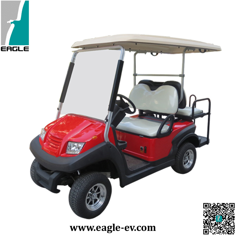 China Electric Utility Golf Cart With Rear Flip Flop Seat