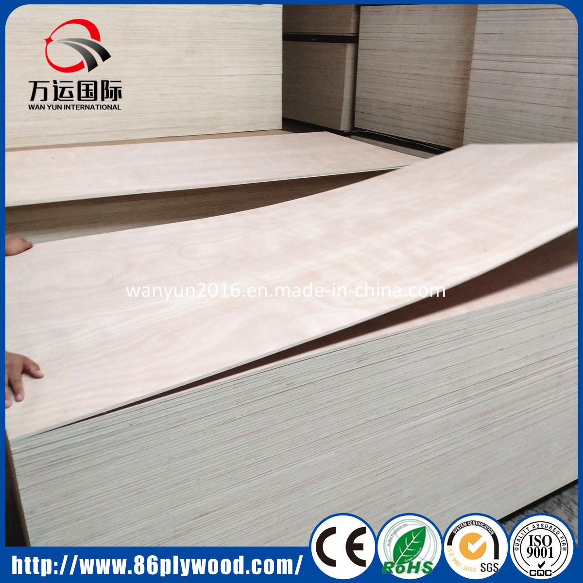 Furniture Grade Bintangor/Okoume/UV Birch/Pine/Poplar Commercial Plywood