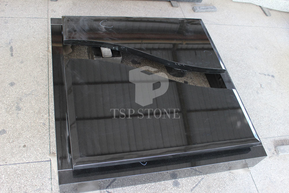 Black Granite Tombstone for Europe Styles
