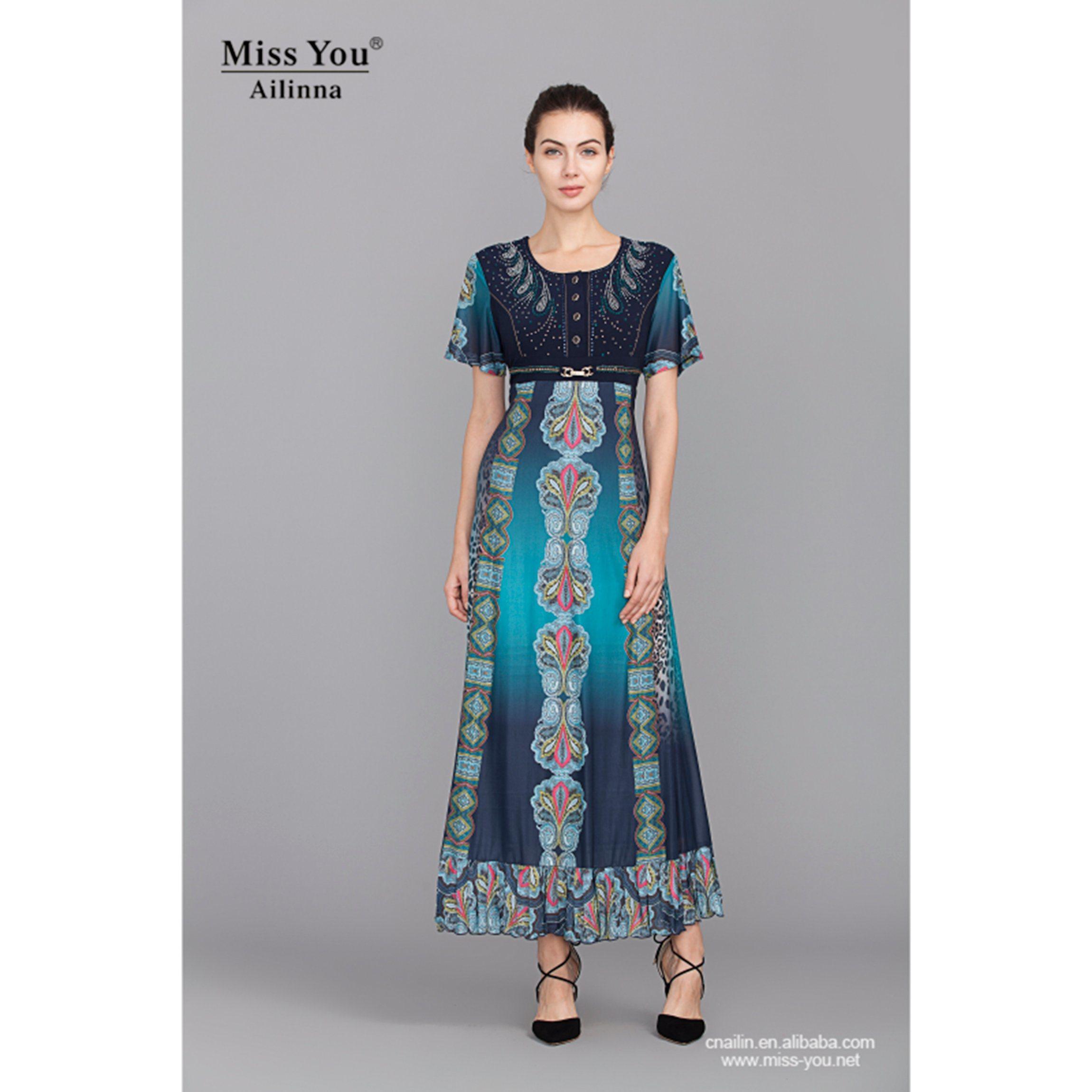 Miss You Ailinna 101972 Slim Long Dress Elegant Dress with High Quality