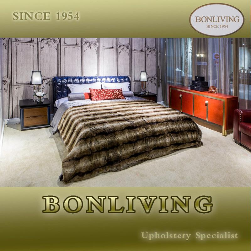 Luxury Bedroom Leather Bed (B008)