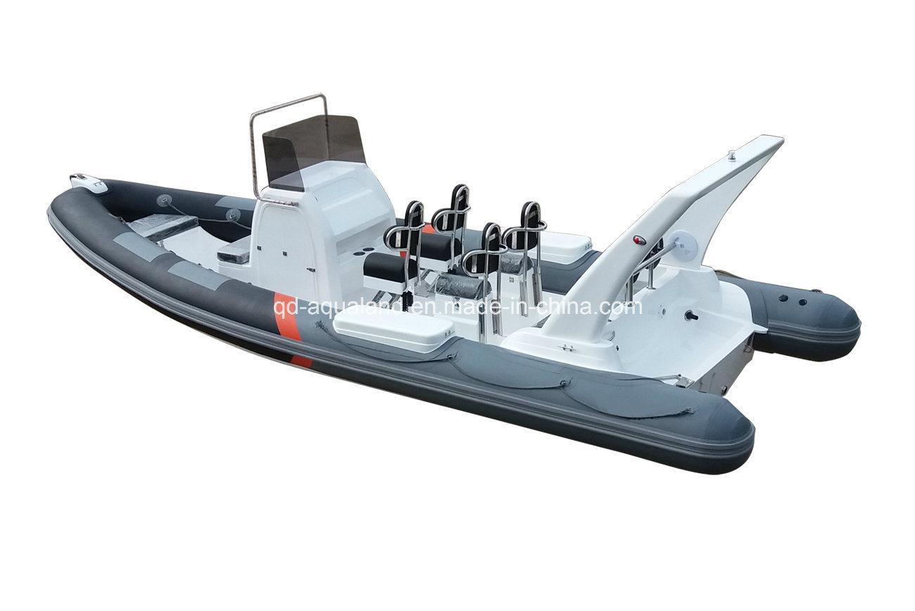 China Aqualand 25feet 7.5m Rib Patrol Boat/Rigid Inflatable Motor Boat/Rescue/Sports/Fishing Boat ((rib750b)
