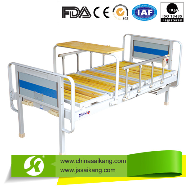 Hospital Double Crank Maunal Medical Bed (CE/FDA/ISO)
