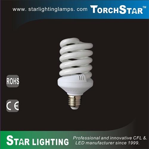 30W 10mm Half spiral Spiral Compact Fluorescent Lamp