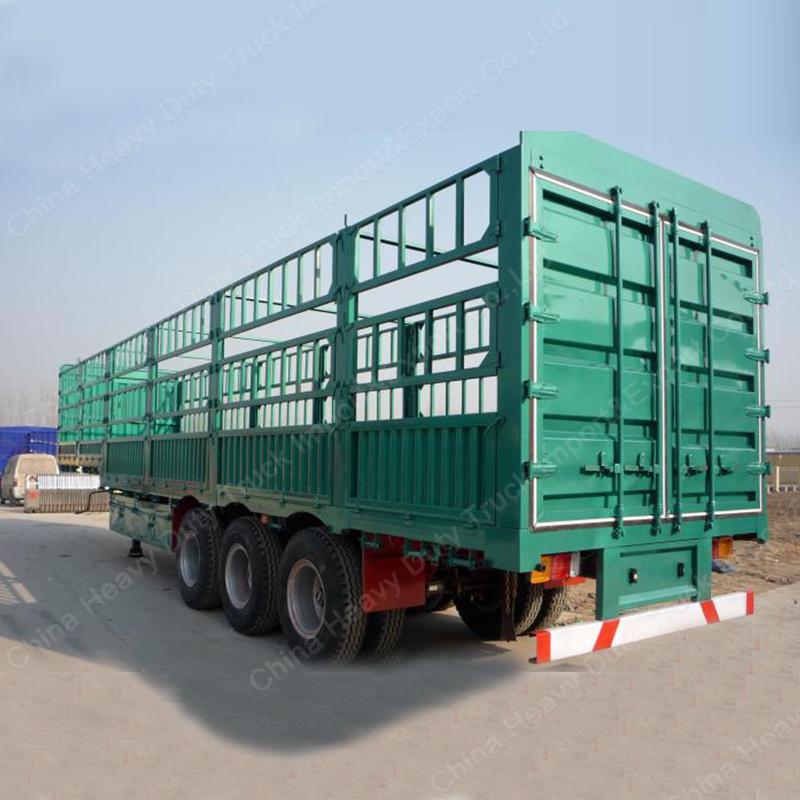 60 Ton Tri-Axle Stake/Fence Truck Semi Trailer