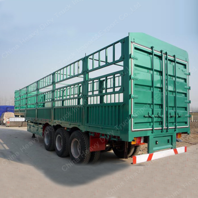 Tri-Axle 60 Tons Stake/Fence Truck Semi Trailer
