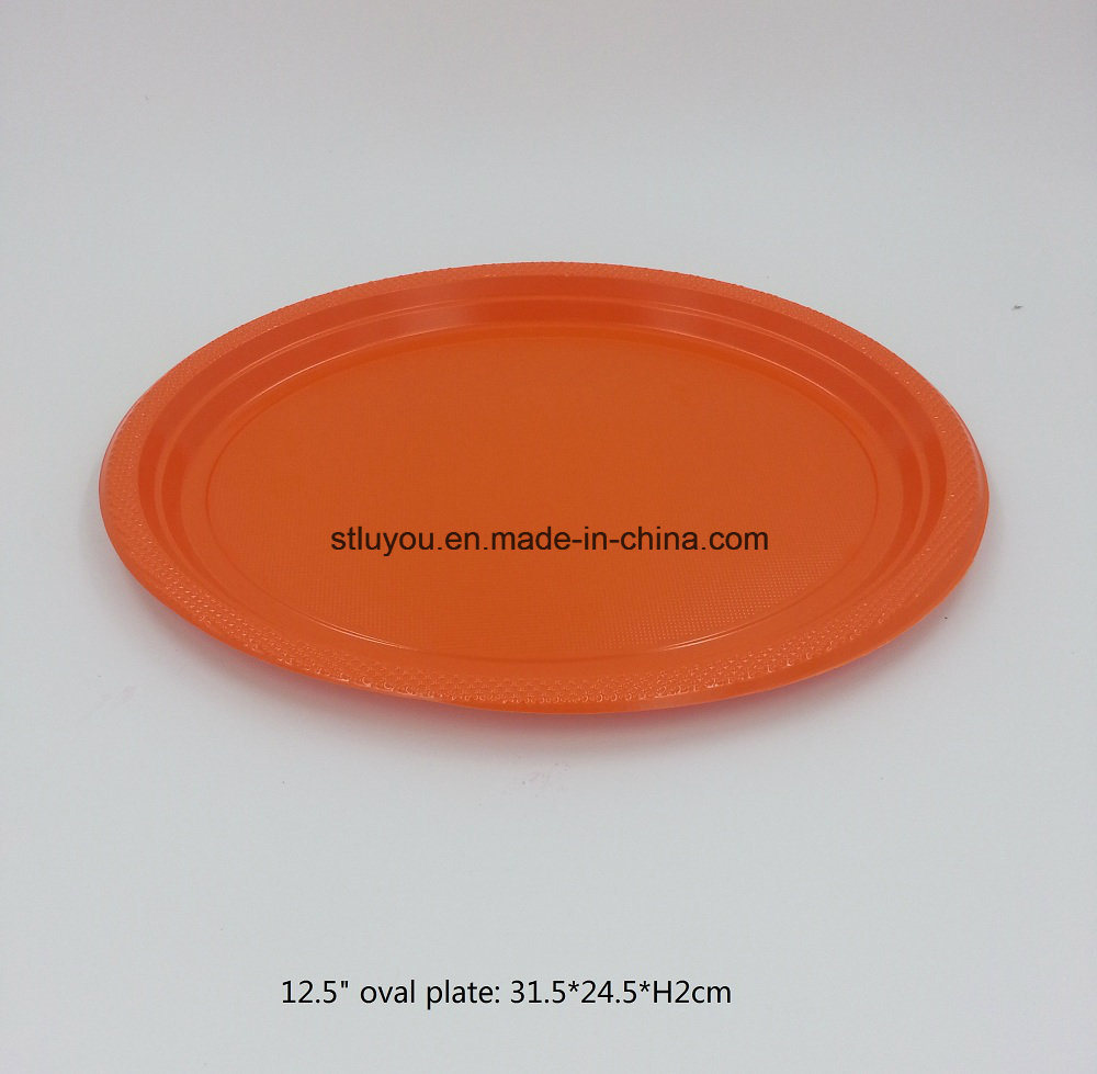 """6""""/7""""/9""""/10"""" Disposable Tableware Theme Plastic Colored Party Plate"""