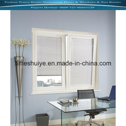 Aluminium Window with Louver and Shutter and Tempered Glass