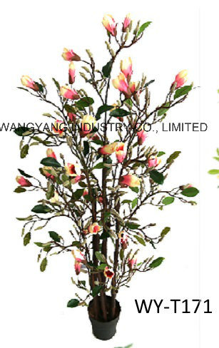 Decoration Beautiful Artificial Fake Synthetic Magnonia Blossom Tree