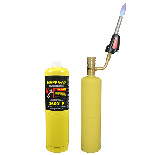 16oz 453.6g Mapp Gas in CE Certified Cylinder for Welding Brazing and Soldering