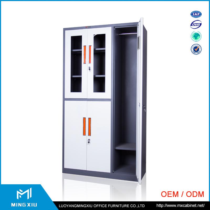 Special Design Adjustable Shelves Glass Door Metal File Cabinet / Steel File Cabinet Price