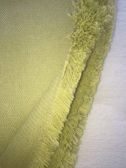 Green Polyester and Acrylic Paint Roller Fabric