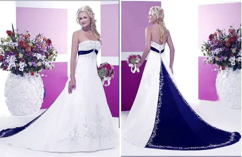 Blue navy and white wedding dresses exclusive photo