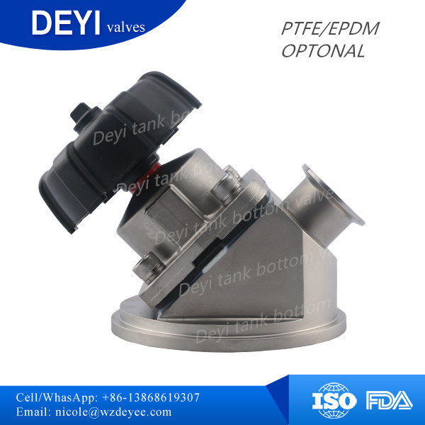Stainless Steel Sanitary Tank Bottom Diaphragm Valve (DY-DPV105)