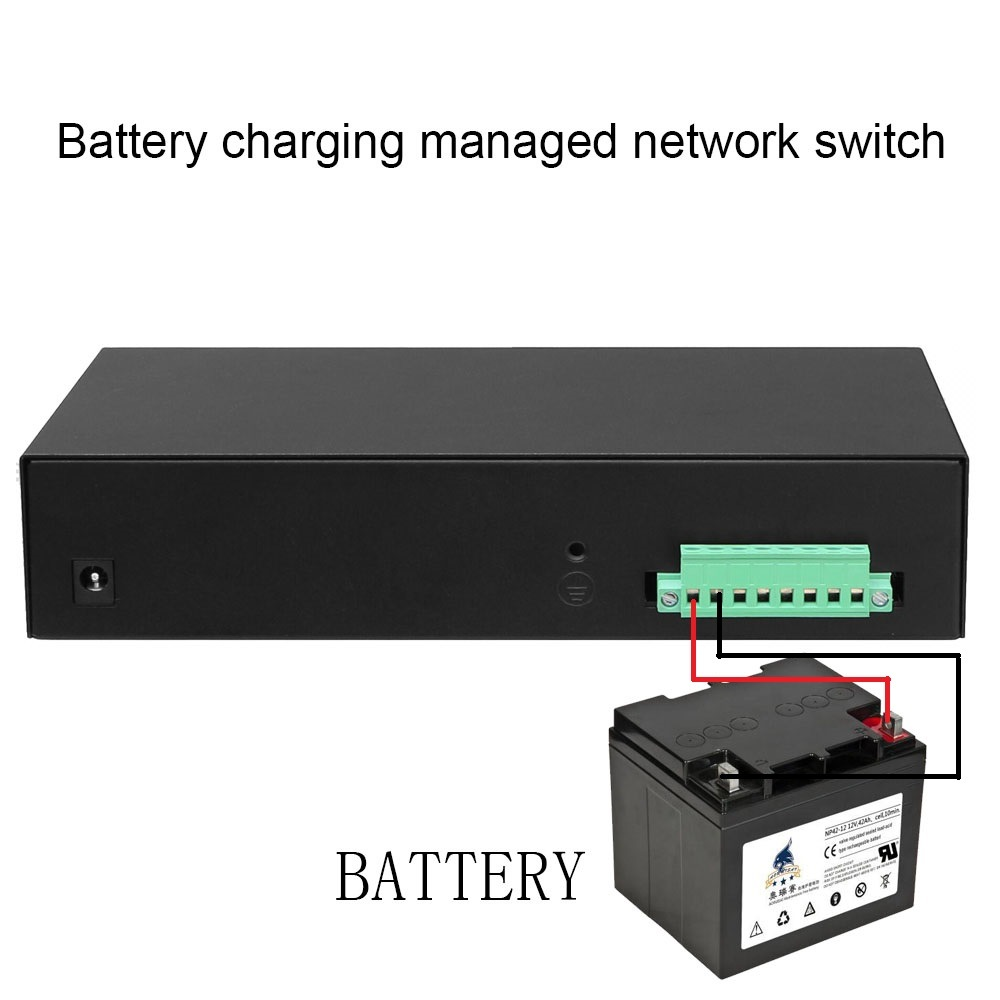 8ge+2SFP Web Managed Network Switch with Battery Charging Function
