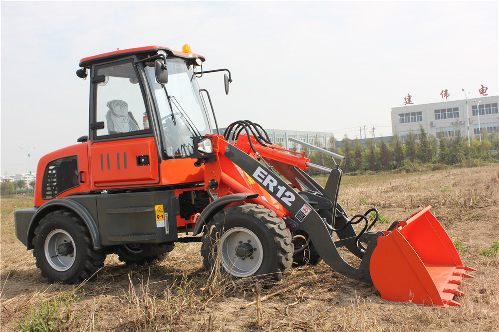 Everun CE Approved Landtechnik 1.2 T Backhoe Lader