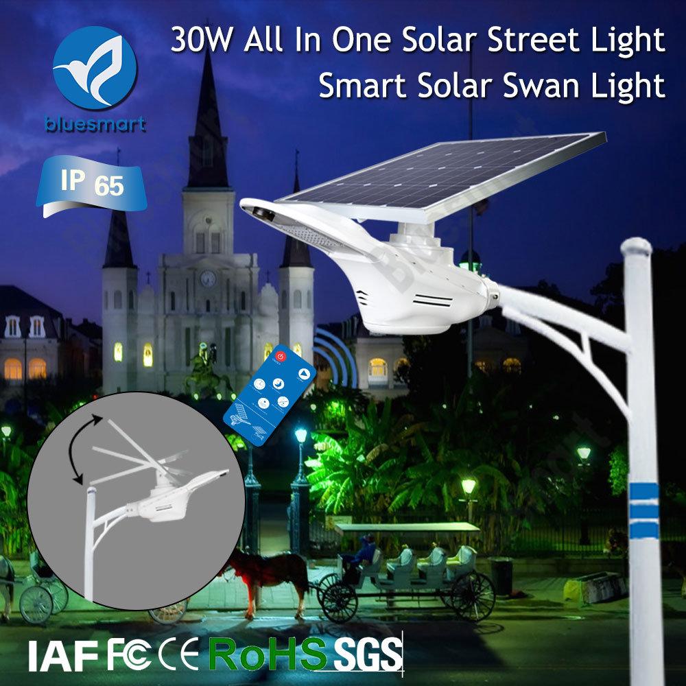 15W/20W/30W/40W/50W/60W/80W Solar Outdoor Sensor LED Smart Street Light with Solar Panel