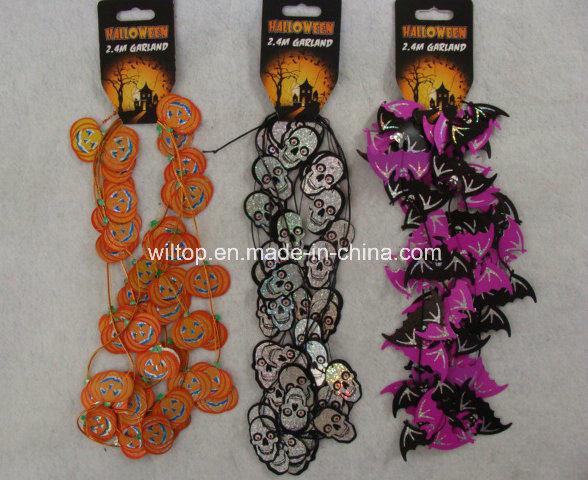 Halloween Laser Pumpkin and Skull Garlands (DH002)