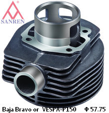 Motorcycle Cylinder Block (Baja Bravo or VESPA-P150)