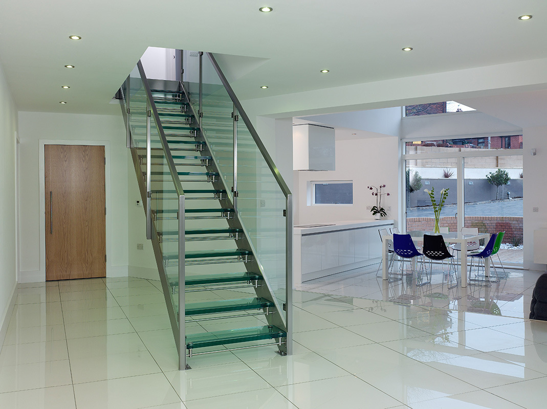 China Straight Glass Staircase Pr L09 Photos Amp Pictures