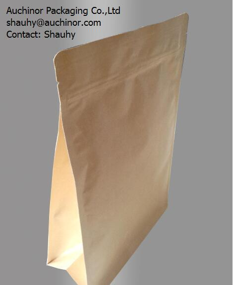 Wholesale Websites Plastic Coated Kraft Paper Bag Stand up Pouch