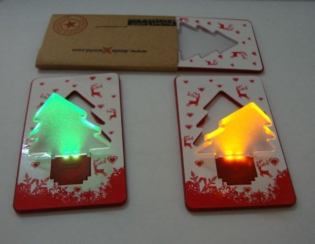 China led christmas card light smart