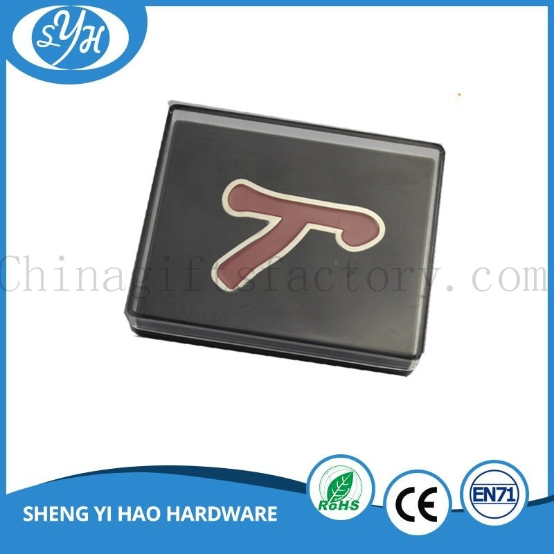 Customized Engraving Logo Alloy Stamping Pin Badge with Epoxy
