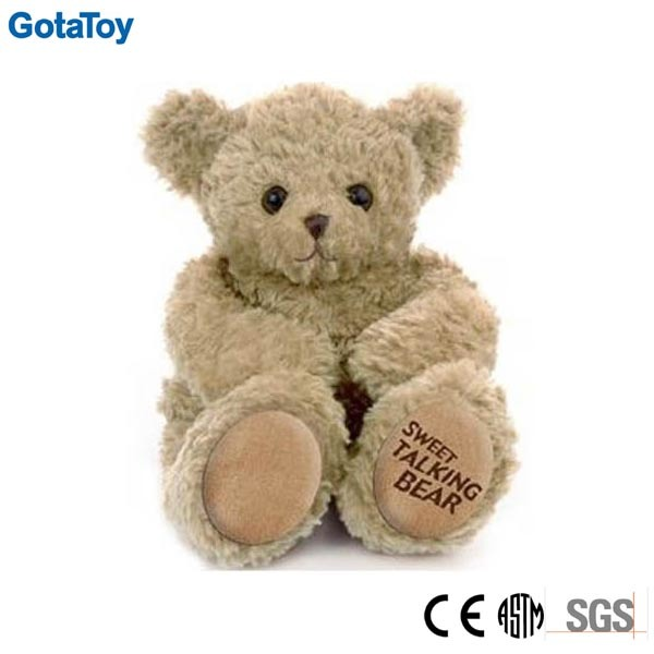 Custom Talking Plush Toy Teddy Bear Talking Stuffed Bear