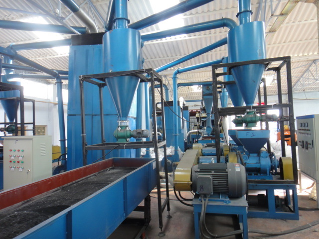 Rubber tire recycling equipment china tyre recycling for Tractor tire recycling