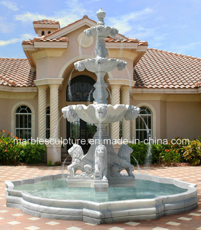 Garden Decorative Stone Sculpture Marble Fountain (SY-F104)