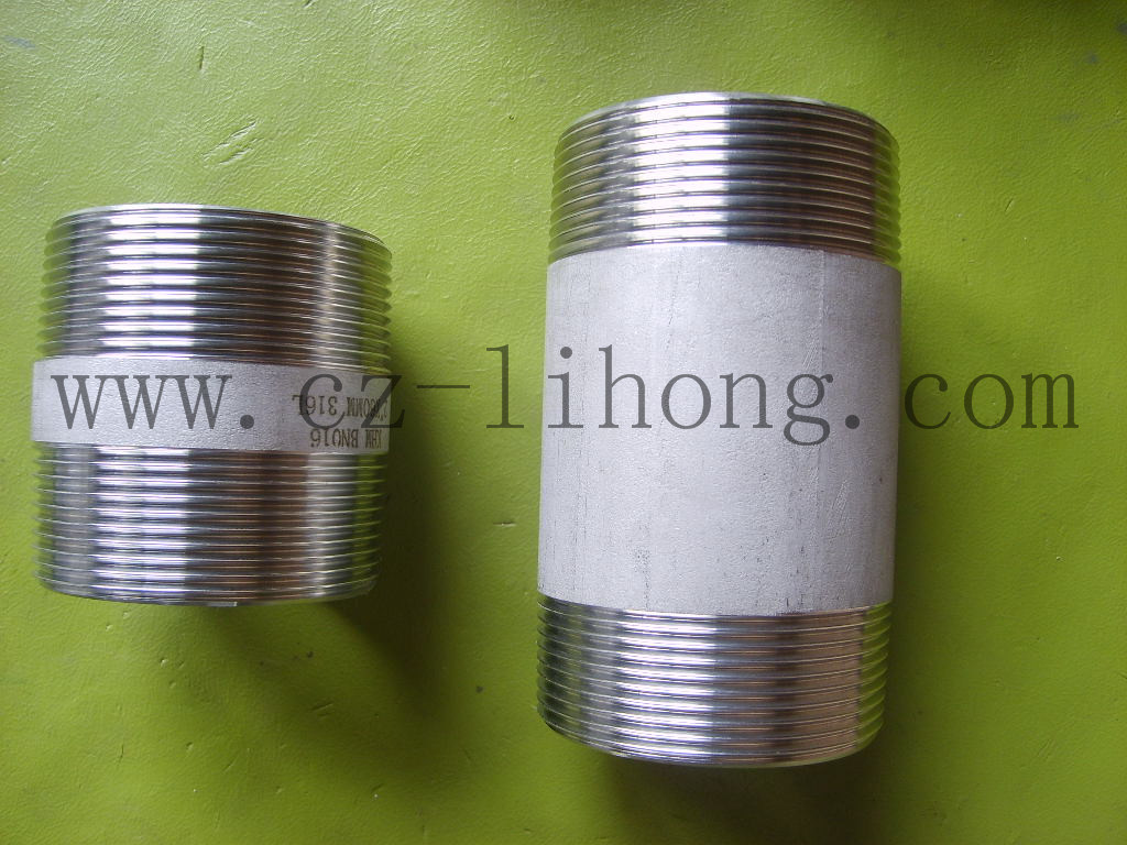 "1-1/2"" Stainless Steel 316L DIN2999 Pipe Fitting Barrel Nipple"