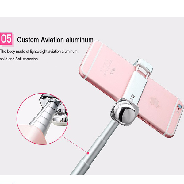 2016 Lip Gloss Selfie Monopod Portable Selfie Stick for Smartphones