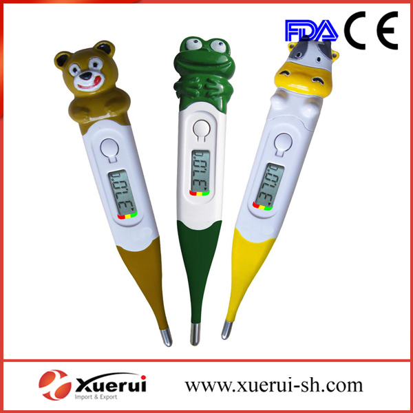 Cartoon Baby Digital LCD Thermometer with Flexible Tip