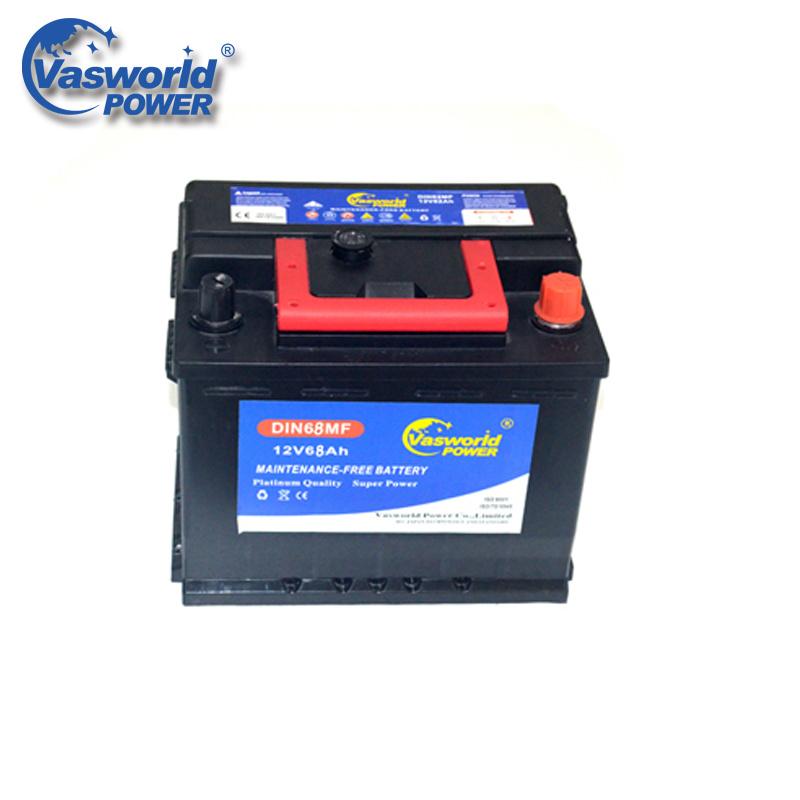 Best Selling DIN68 12V 68ah Maintenance Free Korean Car Battery